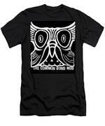 Owl Wood Block  Men's T-Shirt (Athletic Fit)
