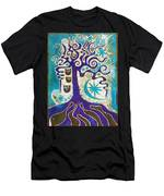 Owls In A Summer Tree Men's T-Shirt (Athletic Fit)