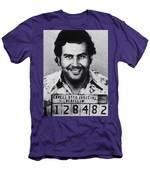 Pablo Escobar Mug Shot 1991 Vertical Men's T-Shirt (Athletic Fit)