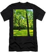 Painting-like Photo Of A Rural Lawn Men's T-Shirt (Athletic Fit)