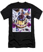 Pancakes With Chocolate Sauce Men's T-Shirt (Athletic Fit)