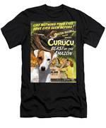 Parson Russell Terrier Art Canvas Print - Curucu  Movie Poster Men's T-Shirt (Athletic Fit)