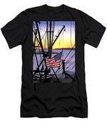Patriotic Fisherman Men's T-Shirt (Athletic Fit)