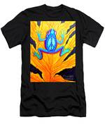 Peace Frog On Fall Leaf Men's T-Shirt (Athletic Fit)