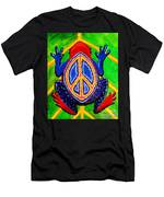 Peace Frog Too Men's T-Shirt (Athletic Fit)