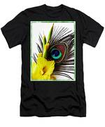 Peacock Feather And Gladiola 3 Men's T-Shirt (Athletic Fit)