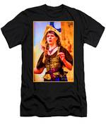 Performer Singing On Stage - In Watercolor Photo Men's T-Shirt (Athletic Fit)