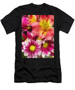 Pink And Orange Men's T-Shirt (Athletic Fit)