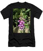 Pink Bell Flowers. Foxglove 03 Men's T-Shirt (Athletic Fit)
