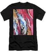 Pink Flow Abstract Men's T-Shirt (Athletic Fit)