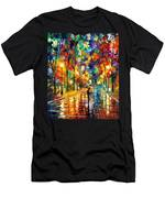 Pretty Night - Palette Knife Oil Painting On Canvas By Leonid Afremov Men's T-Shirt (Athletic Fit)