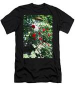 Provence Red Roses Men's T-Shirt (Athletic Fit)