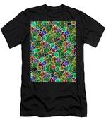 Psychedelic Circles Men's T-Shirt (Athletic Fit)