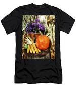 Pumpkin Corn And Asters Men's T-Shirt (Athletic Fit)