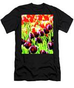 Purple And Peach Tulips 2 Men's T-Shirt (Athletic Fit)