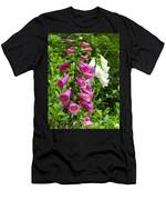 Purple And White Bell Flowers Men's T-Shirt (Athletic Fit)