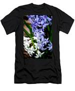 Purple And White Hyacinth Men's T-Shirt (Athletic Fit)