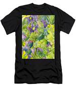 Purple Lillies And Baby's Breath Men's T-Shirt (Athletic Fit)