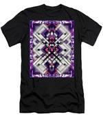 Purple Maze Men's T-Shirt (Athletic Fit)