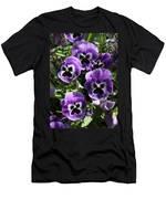 Purple Pansies Men's T-Shirt (Athletic Fit)