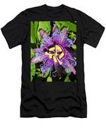 Purple Passion Flower Men's T-Shirt (Athletic Fit)