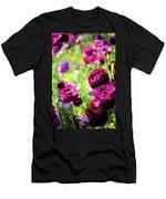 Purple Poppies Men's T-Shirt (Athletic Fit)