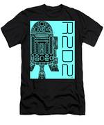 R2d2 - Star Wars Art - Blue Men's T-Shirt (Athletic Fit)