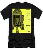 R2d2 - Star Wars Art - Yellow Men's T-Shirt (Athletic Fit)