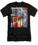 Rain On Royal Street Men's T-Shirt (Athletic Fit)