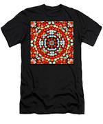 Red And Blue Stones Men's T-Shirt (Athletic Fit)