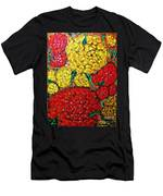 Red And Yellow Garden Men's T-Shirt (Athletic Fit)