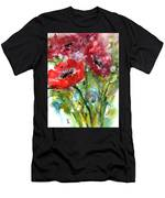 Red Anemone Flowers Men's T-Shirt (Athletic Fit)