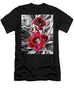 Red Double Lily Men's T-Shirt (Athletic Fit)