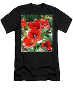 Red Flowers Men's T-Shirt (Athletic Fit)