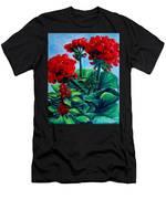 Red Geraniums Men's T-Shirt (Athletic Fit)