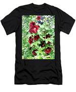 Red Hollyhocks Men's T-Shirt (Athletic Fit)