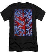 Red Kamani Tree Leaf Men's T-Shirt (Athletic Fit)