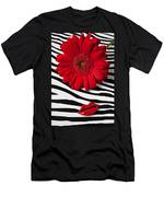 Red Mum And Red Lips Men's T-Shirt (Athletic Fit)