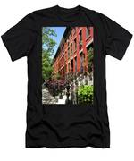 Red Row Houses Men's T-Shirt (Athletic Fit)