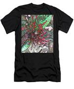 Red Tropical Flower Men's T-Shirt (Athletic Fit)
