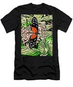 Red Winged Butterfly Men's T-Shirt (Athletic Fit)