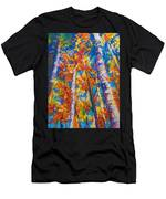 Redemption - Fall Birch And Aspen Men's T-Shirt (Athletic Fit) by Talya Johnson