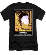 Rome, Italy, Rome Express Railway Men's T-Shirt (Athletic Fit)