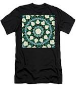 Sacramento Green And Cerulean Blue Mandala Men's T-Shirt (Athletic Fit)