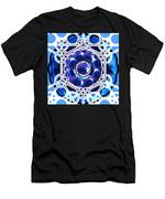 Sacred Geometry Blue Shapes Background Men's T-Shirt (Athletic Fit)
