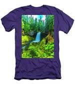 Koosa Falls, Oregon Men's T-Shirt (Athletic Fit)
