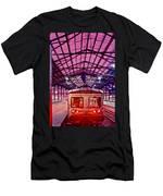 Saint Lazare Station Men's T-Shirt (Athletic Fit)