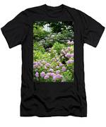 Pink Hydrangeas In Mirabell Garden Men's T-Shirt (Athletic Fit)