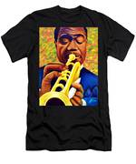 Satchmo, Louis Armstrong Painting Men's T-Shirt (Athletic Fit)