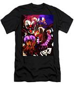 Scary Clowns Abstract Men's T-Shirt (Athletic Fit)